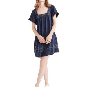 Abercrombie & Fitch Chambray Flutter Sleeve Dress